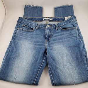 Levis 711 Distressed Skinny Jeans Size 28
